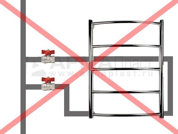 Ошибка 4. Риск завоздушивания системы при нижнем подключении